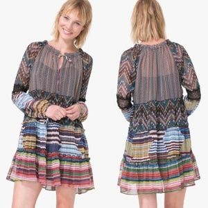 Desigual Lena Boho Patchwork Printed Mini Dress